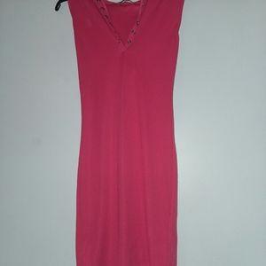 Doublju Women's Sleeveless Neck Hoodie Dress